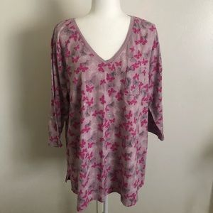 Lane Bryant - Pink Butterfly Top 🦋